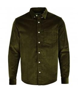Kronstadt - Johan Corduroy shirt - Olive Green