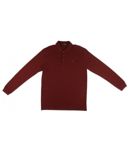 "Pass-Port ""FULL-TIME"" L/S Polo - Merlot"