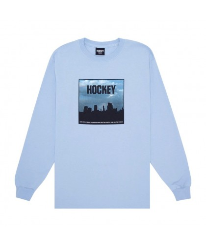 HOCKEY 'SIDE TWO' LONGSLEEVE LIGHT BLUE