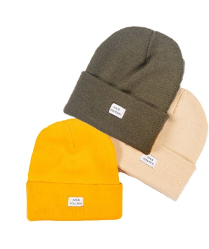 SOUR SOLUTION BEANIE GOLD